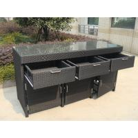China Aluminum Frame And Resin Wicker Bar Set Bar Table For Indoor wholesale