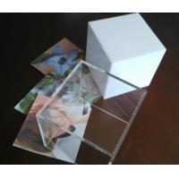 Quality Clear perspex photo frame acrylic cube photo displays enviromental for sale