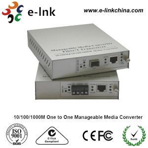 China 2km Gigabit Ethernet Media Converter With Internal Power , Managed Fiber Media Converter wholesale