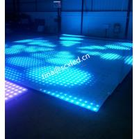China Rgb Club Dance Floor Hire , Durable Transparent Glass Disco Dance Floor Lighting Smd5050 wholesale