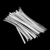 China Flat Shape Face Mask Materials Single Core / Double Core Plastic Nose Clip Wire wholesale