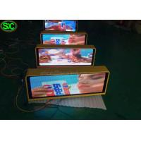 China P10 1R1G1B Single Color Red taxi led sign 3G Control Super Clear Vision wholesale