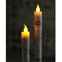 China Warm White Light Taper Led Candles With Moving Flame AA Battery Type wholesale