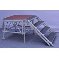 China Anti - Slip Square Aluminum Folding Stage , Smart Mobile Outdoor Stage Platform wholesale