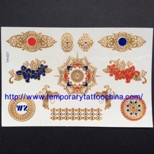 China 3D gold foil tattoo metallic tattoo wholesale
