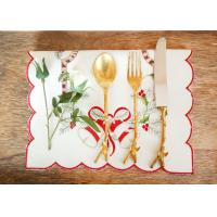 China Embroidered Personalized Fashion Gifts Plain Style Decor Christmas Table Napkins wholesale