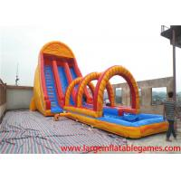 China EN14960 colorful gaint Commercial inflatable slide for kids / water slide bouncer inflatable for rental on sale