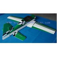 China YAK54 50CC green check style Professional balsa wood rc model manufactory wholesale