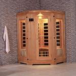 China Monalisa I-004 Western style infrared sauna room 2 persons far infrared sauna cabin far infrared light wave room light wholesale