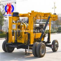 China XYX-3 Wheeled Water Well Drilling Rig Hydraulic Rotary Diamond Core Machine For Sale on sale