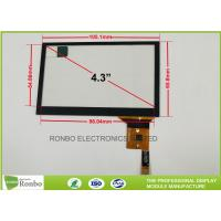 China Thin Thickness Projected Capacitive Touch Panel I2C Interface 4.3 inch on sale