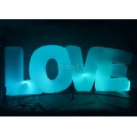 China Wedding Inflatable Lighting Decoration Love Led Letter Balloon For Stage wholesale