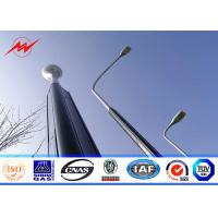 China 10m Conical Tapered Parking Lot Light Pole , Square Exterior Light Poles wholesale