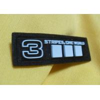 China Custom Geographical 3D Metal Soft Silicone Rubber PVC Patches For Jacket wholesale