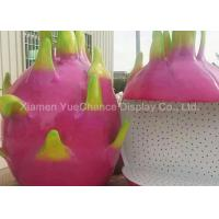 China Custom Oversize Fiberglass Dragon Fruit Statues , Custom Fruit Statues Handmade wholesale
