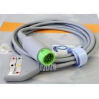 Compatible 12 Pin ECG Monitor Patient Truck Cable For Hospital