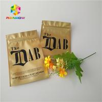 Gold Royal Kratom Bali Foil Ziplock Packing Bags , Stand Up Pouch Bags For