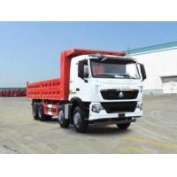 China 336 hp 8x4 heavy duty dump truck front lift HW76 cab , Howo tipper truck wholesale