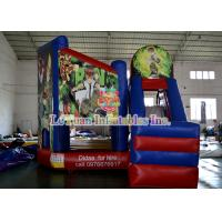 China Alien Warrior Inflatable Bouncy Castle With Slide , kids bounce house wholesale