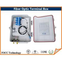 China FTTH 12 Port Fiber Optic Cable Termination Box For 1 x 8 PLC Splitters on sale
