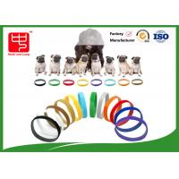 China Puppy Id Collars Thin Hook And Loop hook and loop Straps For Dog Pet , Color Distinguish wholesale