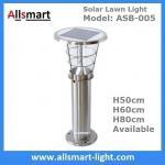 China 50cm/60cm/80cm Height Solar Lighting CE Stainless Steel Solar Yard Light Solar Led Yard Light Outdoor Yard Light wholesale