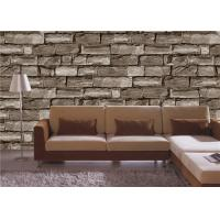 China Gravel PVC 3D Home Wallpaper for bedroom / house walls , Soundproof wholesale