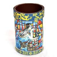 China Hand painted pencil vase,pen holder,home decor,decorative accessories,handicrafts,folk crafts wholesale