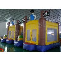 China Outdoor Playground Inflatable Kids Jumping Castle Yellow And Blue With Air Blower wholesale