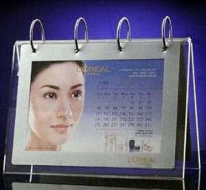 China Fashional Shape Acrylic Calendar Holder With Photo Frame wholesale