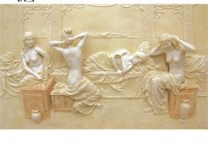 China Marble Nude Women Wall Relief Sculpture Natural Stone Modern Art Home Decor wholesale