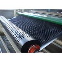 China 100%  material grass drainage mat, drainage cell drainage mat, composit drainage board with geotextile wholesale