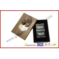 China CMYK Printed 1000g Hard Board Gift Packaging Boxes , Fashionable Wedding Favor Boxes With Ribbon wholesale