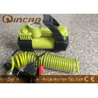 China Car 12v Portable Air Compressor Metal Material With 2 * 30mm Double Cylinder wholesale