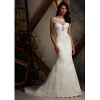China 2013 White/Ivory Lace Mermaid Floor Length Wedding Dress Custom Size on sale