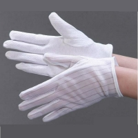China Non Slip Striped Dotted 0.1s Static Decay ESD Gloves wholesale