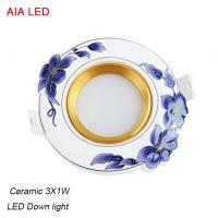 China China 3x1W LED and High quality  ceramic LED down light in hotel used wholesale