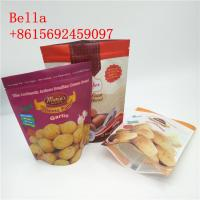 China Zip Lock Snack Packaging Bags SGS FAD Certificated With Clear Bottom wholesale