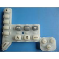 China Laser Etched / Screened Rubber Silicone Keypad With Pill , Matte Finish wholesale