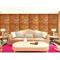 China Real Leather 3D Living Room Wallpaper Royal Luxurious Wall Decal PU leather Panels wholesale