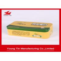 Buy cheap Silver Empty Rectangle Printed Tin Boxes 0.23mm Steel Metal Tinplate Food from wholesalers