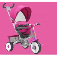 China On Foots / Handle Baby Tricycle Bike Adjustable Canopy With Parent Push Handle wholesale