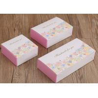 China Three Size Custom Recycled Paper Cake Boxes ,  Flower Patterns Mooncake Paper Box on sale