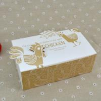 China Logo Printed Popcorn Chicken Box , Disposable Paper Box For Fast Food wholesale