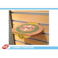 Engraved Logo Round MDF Wood Display Accessory Customized , SGS ISO