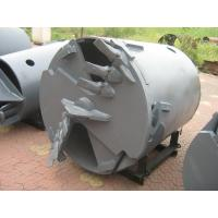 China Drilling Rig Components , Rotary Drilling Augers Double Cut Flat Drilling Bucket And Auger Attachment on sale