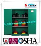 China Fireproof 45 Gallon Hazardous Storage Cabinets Adjustable Shelf For Storing Dangerous Goods wholesale