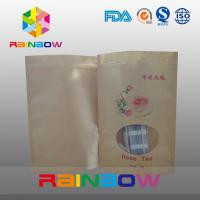China Stand Up Simple Brown Kraft Paper Snack Bag With Clear Window wholesale