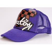 China Multi Panels Adjustable  Mesh Back Trucker Hats Caps Printed Cotton Twill Sweatband wholesale
