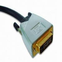 China DVI Plug to DVI Plug Cable, Signal Transfer with High Grade Oxygen-free Copper Wire wholesale